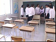 japanese teacher degraded and cum covered by her students