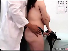 Big tits babe with a doctor