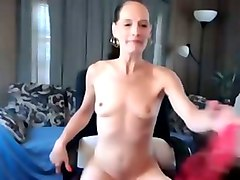 my skinny wife strips and performs hot pussy masturbation show