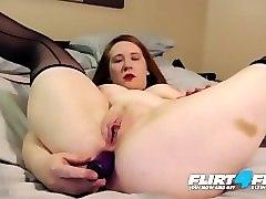 scarlett r on flirt4free - dirty talking chubby slut dps herself to orgasm