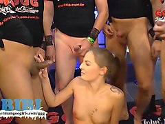 german, gangbang, gangbanged, girl, babes