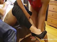 Fit amateur couple in FFM threesome