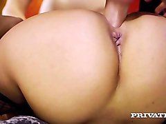 Private.com - Big Butt Esperanza del Horno Fucks 2 Cocks!