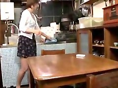 japanese housewife  milf seduces son's friends - 1