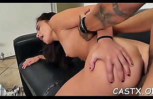 Beauty goes naughty at a casting and gives a blowjob in pov