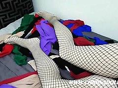 7 layerspantyhose encasement self-bondage