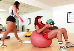 Massive Melons Angelina Castro Pussy Fucked By Fit Babe Nina