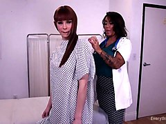 pervy milf nurse performs a rectal exam