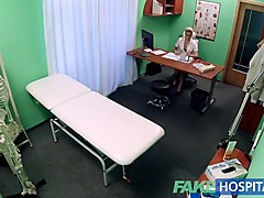 fake hospital hired handyman cums all over pretty nurses bum