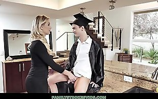 Stepson Graduates And Makes Stepmom Keep Her Promise Of Sex