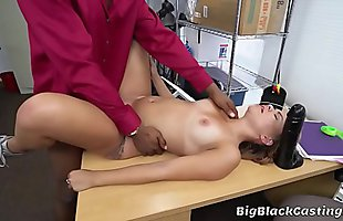 Innocent Blonde Teen Tries Interracial Porn Casting With BBC Guy