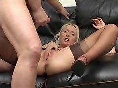 anal, cumming, blonde, cum on pussy, cum