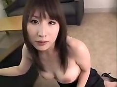 Buxom Oriental Slut Kneels Down And Milks A Dick With Her S