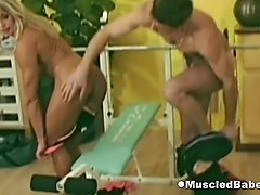 sucking cock in the workout room