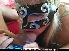 my wife likes to wear mask during oral sex foreplay