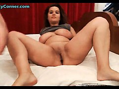busty wife got big cock in pussy and mouth