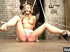 fetish, bondage, blonde, tied up, babe