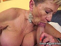 Horny pornstars in Hottest Grannies porn movie