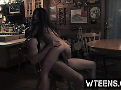 tied teen sally squirtz doggy style ride cowgirl