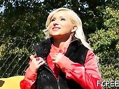 hot woman swallows piss after a fantastic fellatio