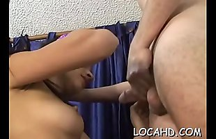 Highly dirty-minded beauty starts cock-sucking scene