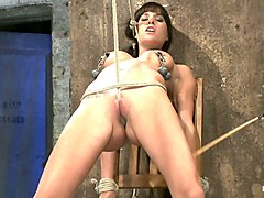 This Is Old School Bondage And Suffering At Its Best.  The Backbreaking Crotch Rope From Hell. - HogTied