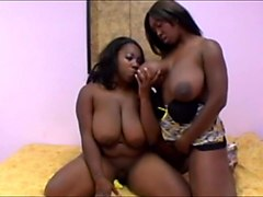 black women get her big natural tits sucked by women