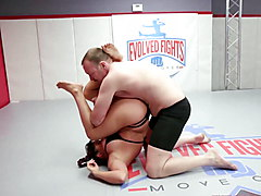 Jasmeen LaFleur wrestling fight vs newcomer Eric for sex