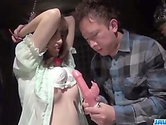 obedient milf, kanako iioka, enjoys rough toy porn