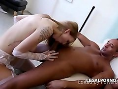belle claire does ATM and gapes with 5 BBCs and then swallows their cum