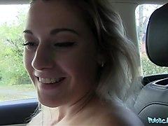 public agent sexy teacher agnes white fucking in a car for e